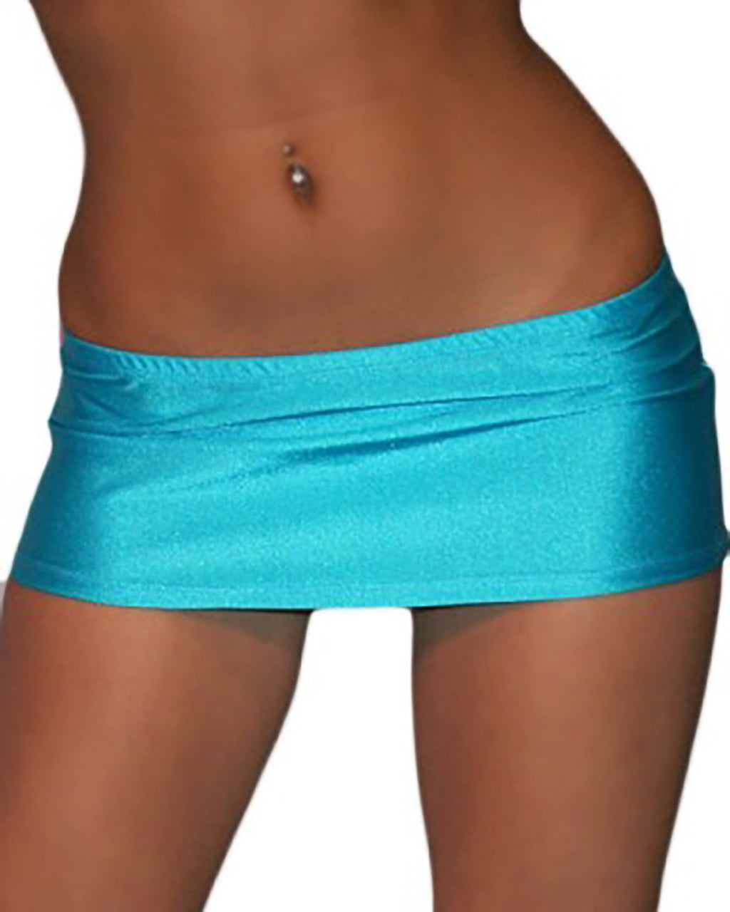 7 1/2 Inch Curve Hugging Sexy Turquoise Mini Dancer Skirt