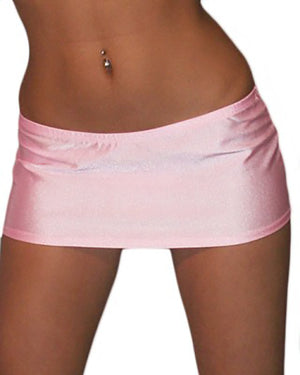 7 1/2 Inch Curve Hugging Sexy Baby Pink Mini Dancer Skirt