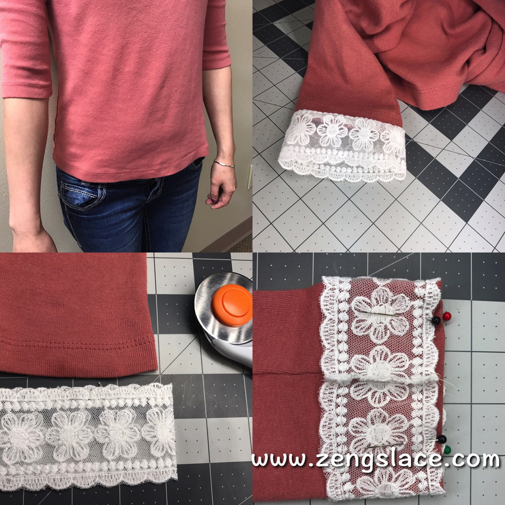 Lace DIY Ideas: Refresh Old T-Shirt in 10 Minutes