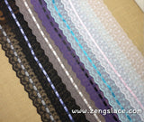 Wide lace trim with lace embroidery/Stretch Lace/mesh lace/lace fabric/french lingerie lace/5 3/4 inches wide lace priced for 1 yard/ee-01-x
