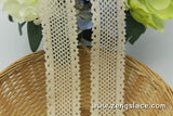 Beige crochet lace trim/Lace Curtain Trim/Lace Insertion Trim/Insertion Lace/Vintage Lace Trim/Cotton Trim Lace/Lace by the yard/CL-12