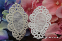 White lace applique pair/Lace Medallion/Cute Patches/Cotton Patch/Cotton Applique/Round Applique/zengslace/priced for two pieces/LA-2-x