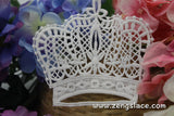 White lace applique pair/crown applique/Cute Patches/white applique/venise lace applique/Lace Medallion/crown patch/priced for 1 pc/LA-14-1