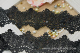 Guipure lace trim with Victorian pattern, venise lace trim, wedding lace, 2 3/4 inches wide, GL-34