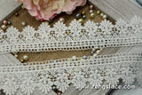 Guipure lace trim/Venise Lace Trim/Bridal Lace Trim/Wedding Dress Lace/Bridal Veil Lace/Off-White Lace Trim/Antique Lace Trim/GL-36