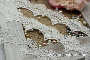Guipure lace trim with scalloped edge, venise lace trim, 1 3/4 inches wide, GL-44