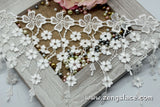 Dangling guipure lace trim with beautiful flowers, venise lace trim, wedding lace trim, GL-40