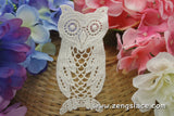 Beige cotton lace applique, owl applique, LA-6-1