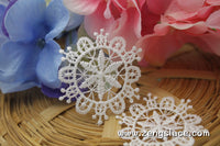 White lace applique, snowflake applique, LA-19-1
