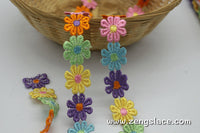 Small flower chain with six colors Venise lace trim, guipure lace trim, VL-1-M6