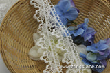 Guipure lace trim/Venise Lace Trim/Bridal Lace Trim/Wedding Dress Lace/Bridal Veil Lace/Off-White Lace Trim/Antique Lace Trim/VL-18-WH