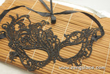 Masquerade Mask/Masks For Masquerade/Venetian Mask/Half Mask/Lace Mask/Masquerade Mask Men/Gift for her/Gift for him/LM-15-BL