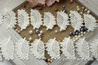 Guipure lace trim with cute leaves, venise lace trim, 2 inches wide, GL-32