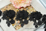 3D guipure lace trim with flower pattern and leave, venise lace trim, wedding lace, GL-35
