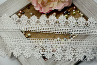 Guipure lace trim with Victorian pattern, venise lace trim, wedding lace, 2 inches wide, GL-36