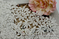 Guipure lace trim/Venise Lace Trim/Bridal Lace Trim/Wedding Dress Lace/Bridal Veil Lace/Off-White Lace Trim/Antique Lace Trim/GL-46