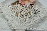 Ivory wide guipure lace trim with flowers and leaves, venise lace trim, wedding lace trim,  GL-46