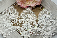 Guipure lace trim with scalloped edge/Venise Lace Trim/Wedding Lace/Bridal Lace by the yard/GL-43