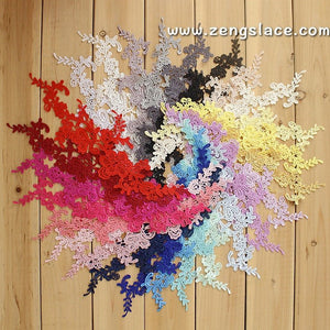 Venise lace applique, bridal lace applique, 26 colors to choose. LA-26