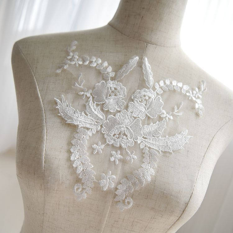 Off-White applique/Bridal applique/Bridal Applique, priced for one piece, ALA-18