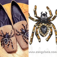 Halloween Applique/Halloween Costume/Rhinestone Applique/Shoe Clips/Shoe Applique/Spider Applique/Animal Applique/Priced for one piece/RA-12