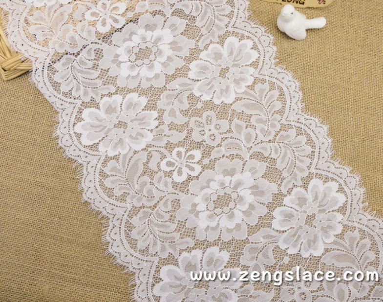 French lingerie lace white stretch lace chantilly lace soft