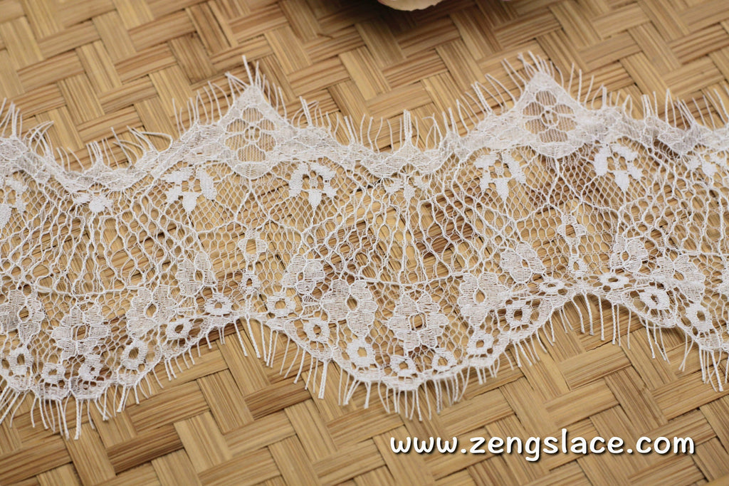French Lingerie Lace/Stretch Lace/Soft Bralette Lace /Chantilly Lace by the piece/FNL-02