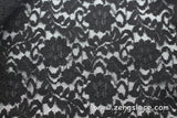 Floral lace fabric/black lace fabric/Lace by the yard /FL-09