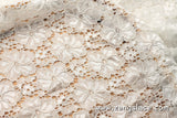 Floral lace fabric/Off White lace fabric/Lace by the yard/FL-12
