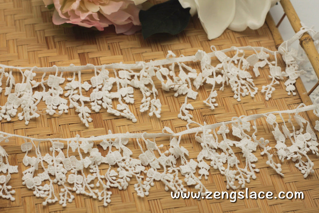 Guipure lace trim/Venise Lace Trim/Bridal Lace Trim/Wedding Dress Lace/Bridal Veil Lace/Off-White Lace Trim/Antique Lace Trim/GL-54
