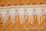 Guipure lace trim/Venise Lace Trim/Bridal Lace Trim/Wedding Dress Lace/Bridal Veil Lace/Off-White Lace Trim/Antique Lace Trim/EL-74