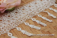 eyelash lace trim/tassel lace/guipure lace/off-white lace fabric/wedding lace/bridal lace/GL-55