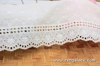 Eyelet Lace Trim/Antique Lace/Vintage Dress Lace/Boho Dress Lace/Vintage Wedding Dress/Lace Dress/Lace Fabric by the yard/EY-06