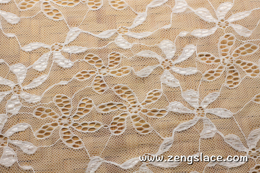 Floral lace fabric/Off White lace fabric/Lace by the yard/FL-15