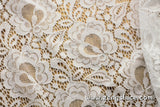 Floral lace fabric/Off White lace fabric/Lace by the yard/FL-16