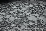 Floral lace fabric/black lace fabric/Lace by the yard/FL-17