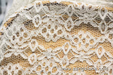 Floral lace fabric/Ivory lace fabric/Lace by the yard/FL-18