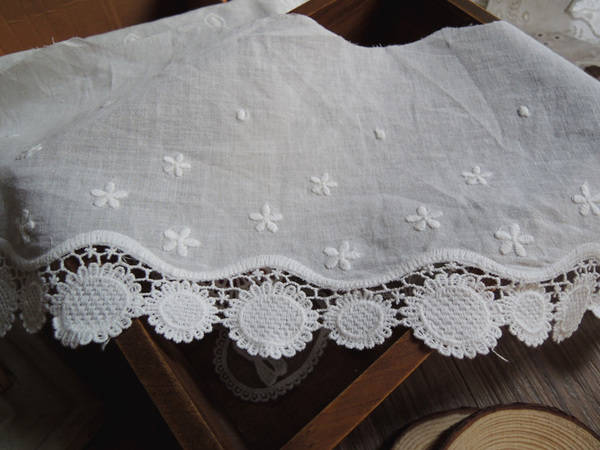 Eyelet lace trim/double layer cotton lace trim/bridal lace/vintage lace/lace by the yard/EY-16