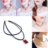 Thin Choker Necklace/Black Lace Choker Necklace/Necklace Choker Thin/LN-22