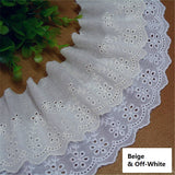 Eyelet lace trim/double layer cotton lace trim/unique bridal lace/vintage lace/ace by the yard/EY-13
