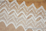 lace trim with floral embroidery/white lace fabric/wedding lace/lace by the yard/EL-66-OW