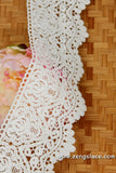 lace trim with floral embroidery/white lace fabric/wedding lace/bridal lace/lace by the yard/EL-80