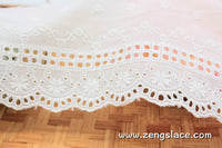 Unique bridal lace/eyelet lace trim/vintage lace trim/cotton lace trim/lace by the yard/EY-06