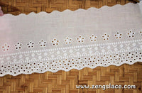 Creamy cotton lace/eyelet lace trim/antique lace/unique bridal lace/vintage lace trim/EY-32