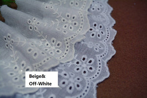 Eyelet Lace Trim/Antique Lace/Vintage Dress Lace/Boho Dress Lace/Vintage Wedding Dress/Lace Dress/Lace Fabric by the yard/EY-13