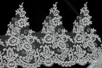 Ivory Alencon lace/Bridal Lace/Wedding Lace/Wide Lace Trim/Bridal Gowns Lace by the yard/AL-16