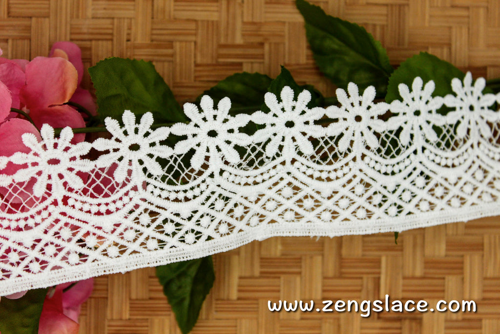 Guipure lace trim/Venise Lace Trim/Bridal Lace Trim/Wedding Dress Lace/Bridal Veil Lace/Off-White Lace Trim/Antique Lace Trim/GL-65-OW