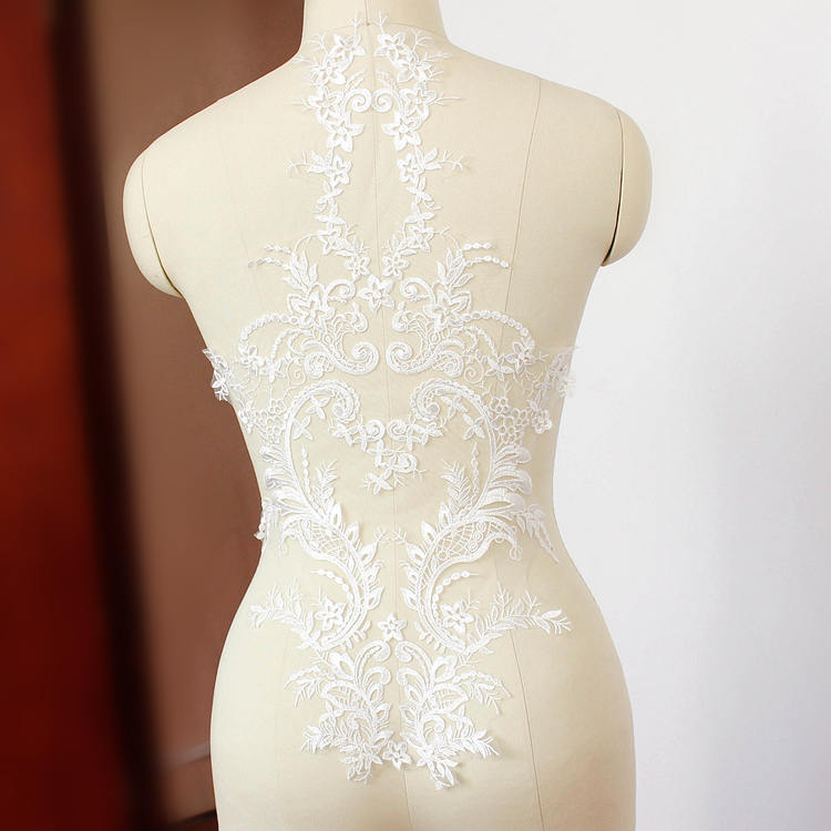 Wedding applique/Wedding Dress applique/Alencon lace applique priced for 1 pc/ALA-10