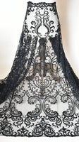 Beaded Bridal Lace Fabric/Beaded Alencon Lace/Lace Wedding Dress/FL-63