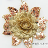 Rose Fabric flowers/DIY Hair Bow Flowers Lace flowers/Lace Applique priced for 1 pc/DL-13
